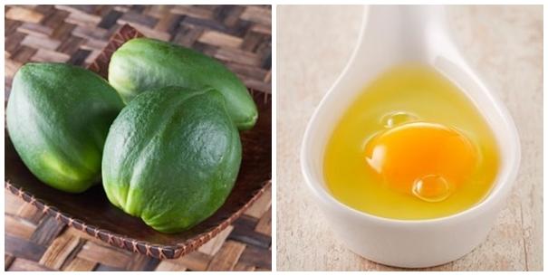 Cách trị mụn cám đơn giản từ đu đủ xanh và lòng trắng trứng