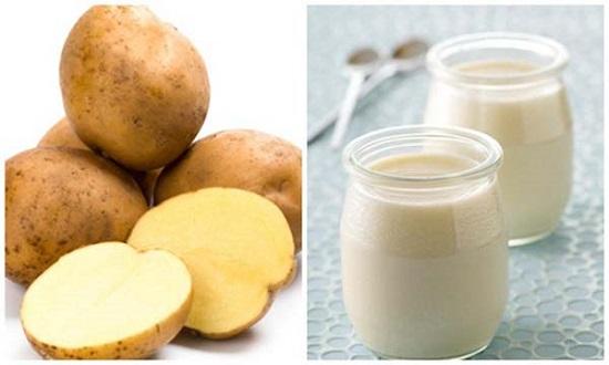 Cách điều trị mụn dưới da bằng khoai tây và sữa chua