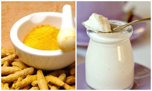 Công thức trị mụn bọc tại nhà với sữa chua và bột nghệ