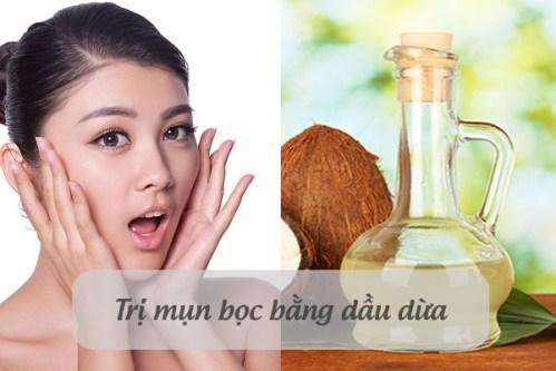 Cách trị mụn hiệu quả với dầu dừa