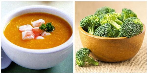 Thực phẩm chứa nhiều vitamin A cũng tốt cho người bị mụn