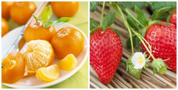 Mẹo trị mụn bằng trái cây hiệu quả từ dâu tây và quýt