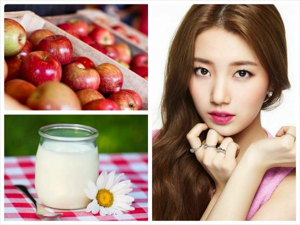 Mặt nạ từ táo và sữa tươi giúp trị mụn đầu đen hữu hiệu