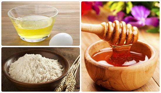 Công thức trị mụn cám bằng lòng trắng trứng gà và bột yến mạch cho da khô
